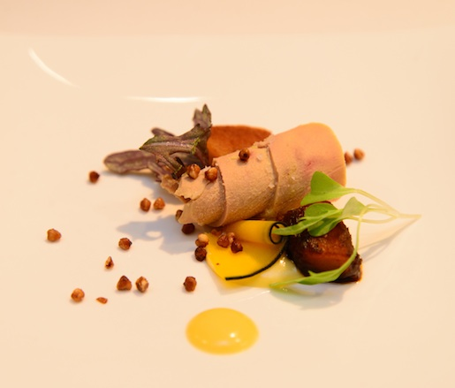 Smoked Foie Gras with Kabocha Squash and Buckwheat
